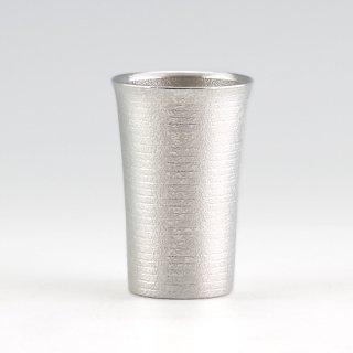 錫 タンブラー スマート 吹雪加工 180ml 商品番号:79A-1/名入れ・マーク入れ 不可