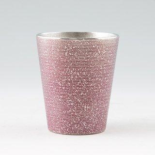 錫 タンブラー ロンググラスビッグ 吹雪 イブシ加工 紫 450ml 商品番号:79A-3-3/名入れ・マーク入れ 可