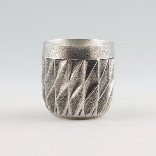 錫 切子シリーズ ダイヤグラス イブシ加工 250ml 商品番号:94A-1/名入れ・マーク入れ 不可