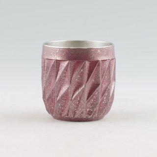 錫 切子シリーズ ダイヤグラス イブシ加工 紫 250ml 商品番号:94A-2/名入れ・マーク入れ 不可