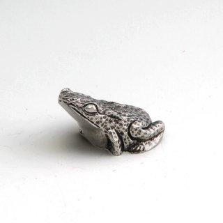 錫 置物 かえる イブシ加工 商品番号:182/名入れ・マーク入れ 不可
