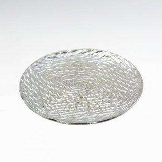 錫 銘々皿 丸形縄 商品番号:1060-4/名入れ・マーク入れ 不可