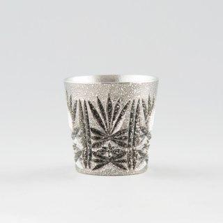 錫 切子グラス 黒 イブシ加工 120ml 商品番号:95/名入れ・マーク入れ 不可