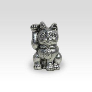 錫 置物 招き猫 イブシ加工 商品番号:181C-1/名入れ・マーク入れ 不可