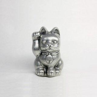 錫 置物 招き猫 イブシ加工 商品番号:181B-1/名入れ・マーク入れ 不可
