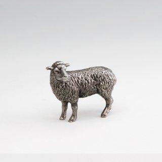 錫 置物 干支 未(羊) イブシ加工 商品番号:186A-8/名入れ・マーク入れ 不可