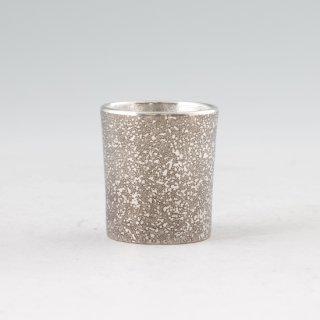 錫 ぐい呑 吹雪 黒 吹雪加工 40ml 商品番号:90A-1/名入れ・マーク入れ 不可