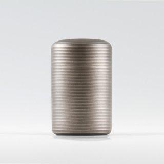 錫 茶筒 イブシ加工 黒 100g 商品番号:20-1/名入れ・マーク入れ 不可