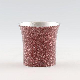 錫 タンブラー桜島 赤漆加工 250ml 商品番号:396-3/名入れ 可・マーク入れ 不可