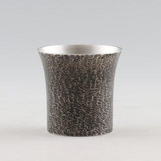 錫 タンブラー桜島 黒漆加工 250ml 商品番号:396-2/名入れ 可・マーク入れ 不可