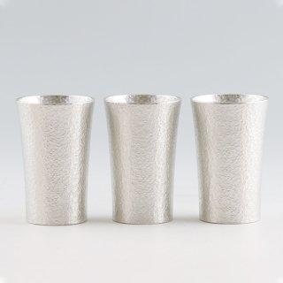 錫 タンブラー スマート  打目柄 3個セット 打目柄加工 180ml 商品番号:79B-1/名入れ・マーク入れ 不可