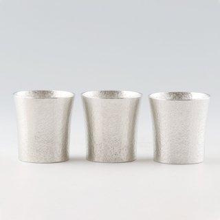 錫 タンブラー スマート  打目柄 3個セット 打目柄加工 180ml 商品番号:86B-3/名入れ・マーク入れ 不可