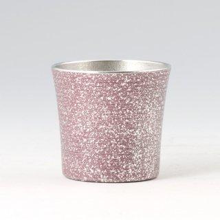 錫 タンブラー オンザロック 紫 吹雪加工 260ml 商品番号:86A-1-B/名入れ・マーク入れ 可