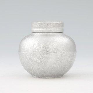 錫 茶壺 吹雪白加工 180g 商品番号:49-1/名入れ・マーク入れ 不可