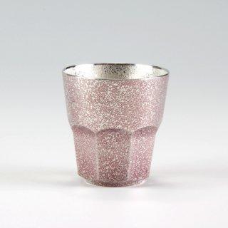 錫 八面グラス 紫 イブシ加工 商品番号:94B-2/名入れ・マーク入れ 不可