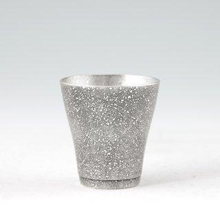 錫 フリーカップゼロ 吹雪黒漆加工 140ml 商品番号:78-1-A/名入れ・マーク入れ 不可