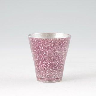 錫 フリーカップゼロ 吹雪紫漆加工 140ml 商品番号:78-1-B/名入れ・マーク入れ 不可