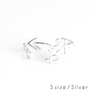 hiragana BANGLE  ありがとう - Silver / 2size