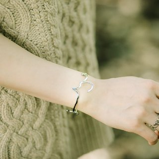 hiragana BANGLE  うつくしい - Silver / 2size
