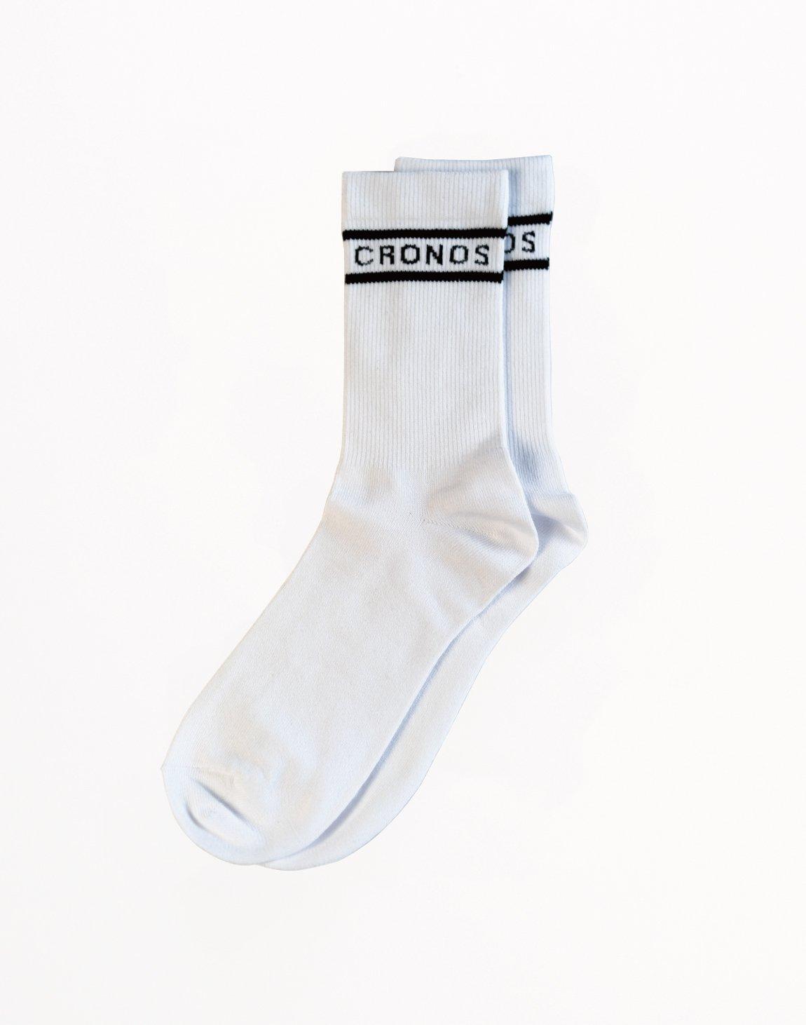 CRONOS Two Border Socks White