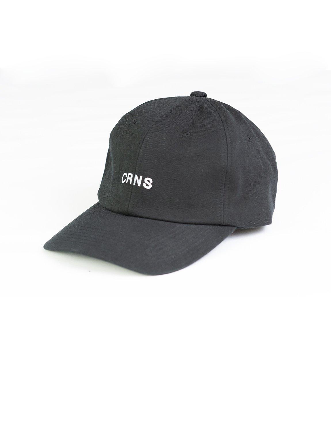 CRNS WASH LOGO CAP BLACK