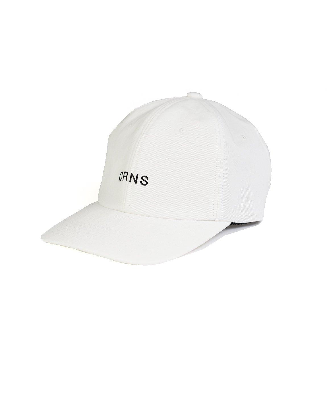 CRNS WASH LOGO CAP WHITE