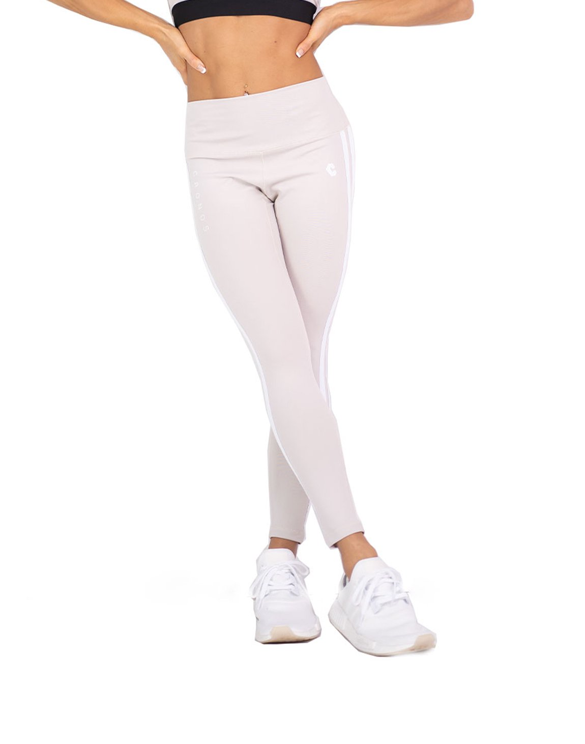 CRONOS MODE 2STRIPE LEGGINS  GRAY