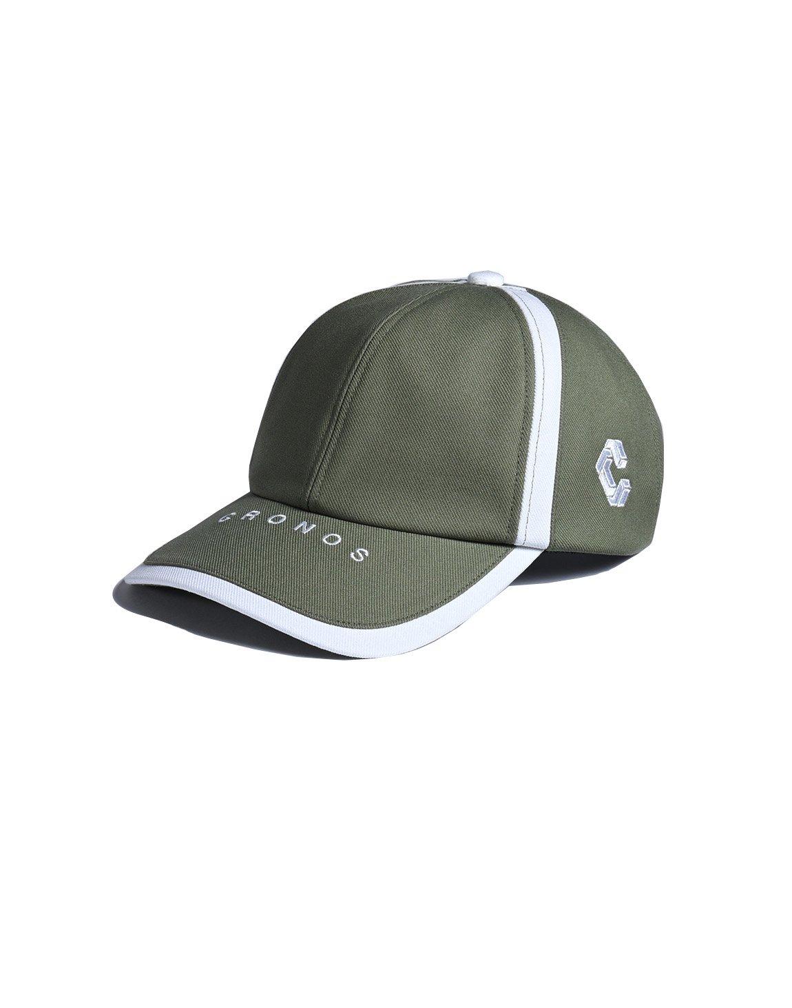 CRONOS LINE TAPE CAP 【OLIVE&KHAKI】