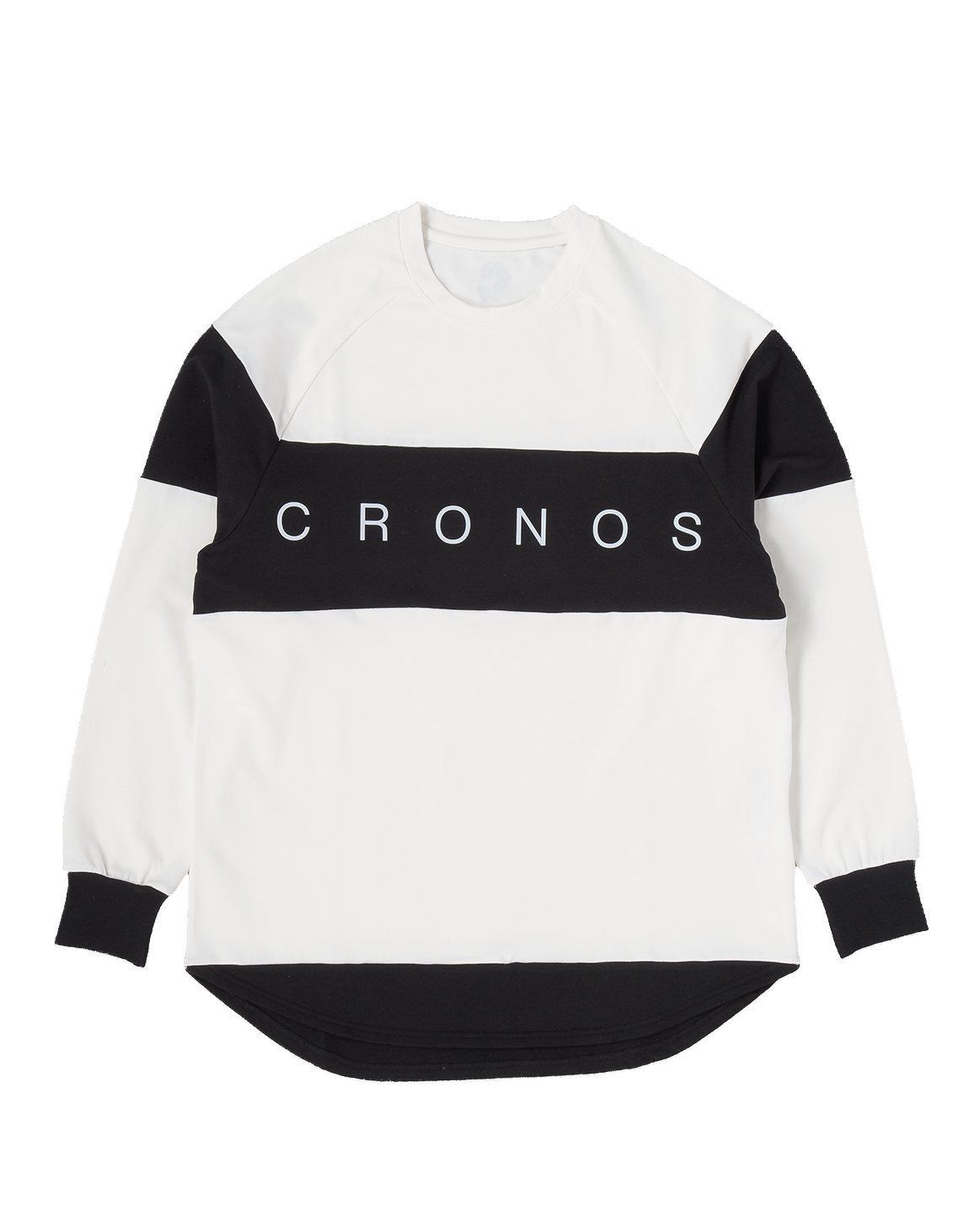 CRONOS Bi-COLOR  LONG SLEEVE【WHITE】