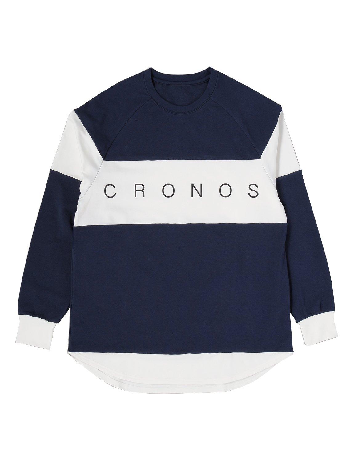 CRONOS Bi-COLOR  LONG SLEEVE【NAVY】