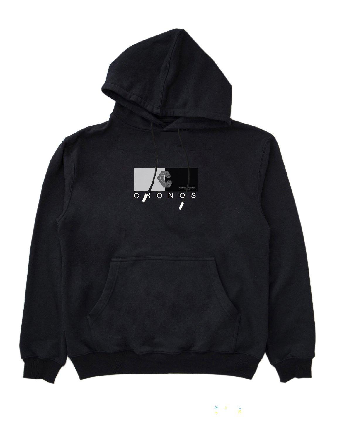 CRONOS HALF COLOR HOODY 【BLACK】