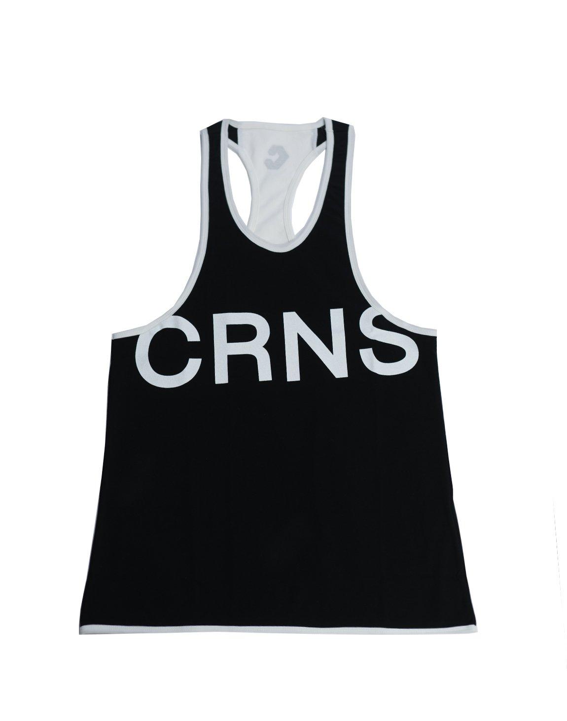CRNS NEW BIG FONT LOGO TANK TOP 【BLACK】