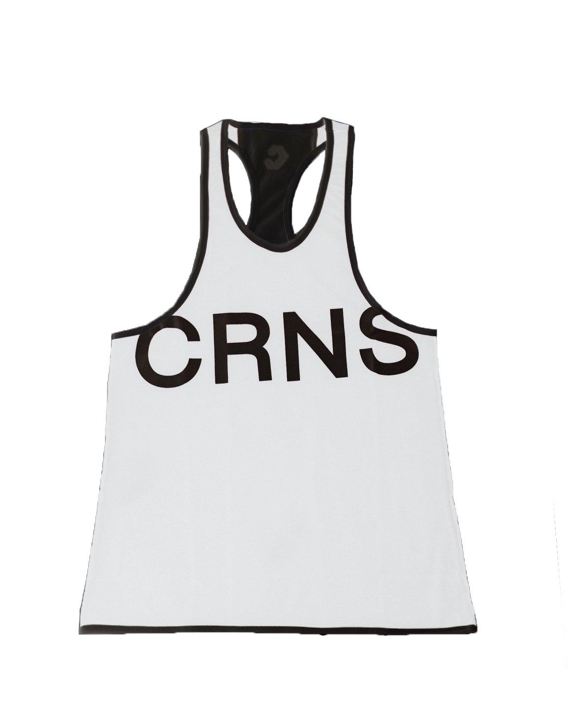 CRNS NEW BIG FONT LOGO TANK TOP 【WHITE】