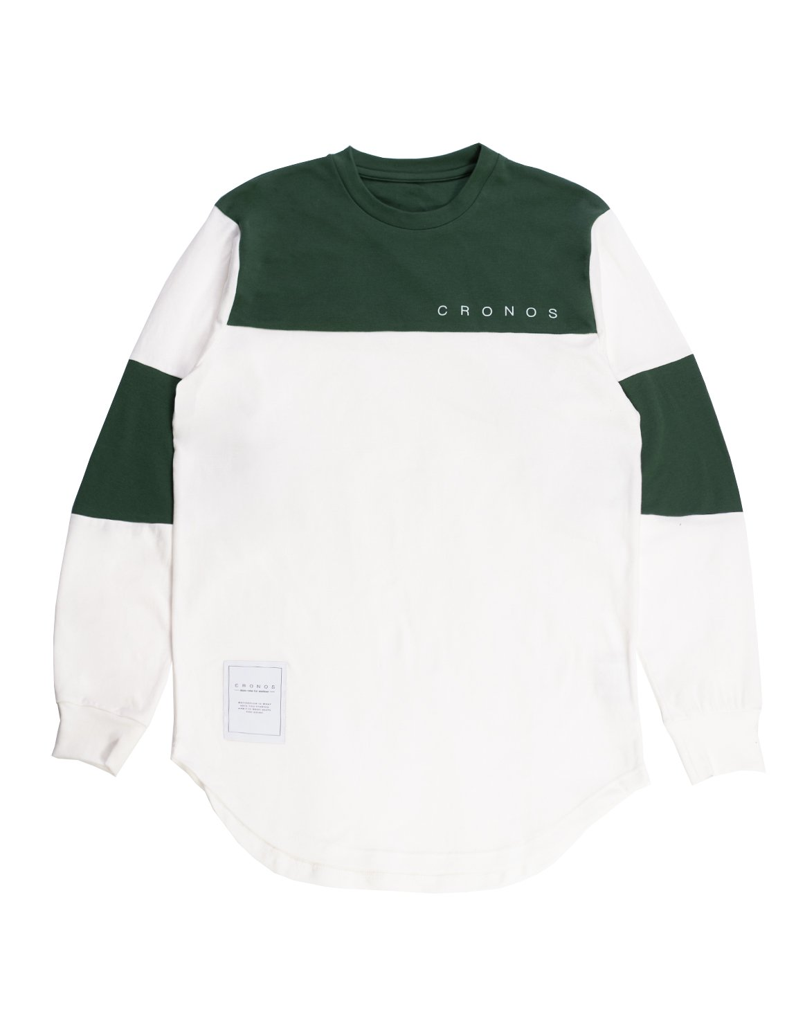 <img class='new_mark_img1' src='https://img.shop-pro.jp/img/new/icons55.gif' style='border:none;display:inline;margin:0px;padding:0px;width:auto;' />CRONOS NEW BICOLOR  LONG SLEEVE【WHITE×GREEN】