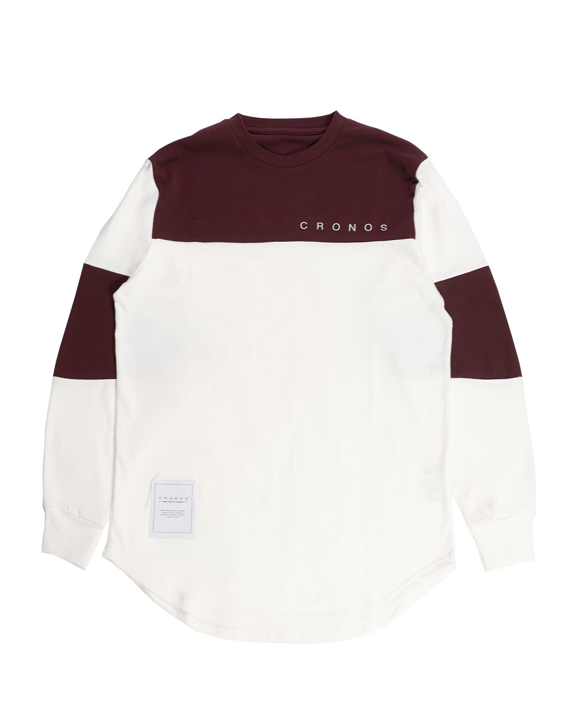<img class='new_mark_img1' src='https://img.shop-pro.jp/img/new/icons55.gif' style='border:none;display:inline;margin:0px;padding:0px;width:auto;' />CRONOS NEW BICOLOR  LONG SLEEVE【WHITE×BORDEAUX】