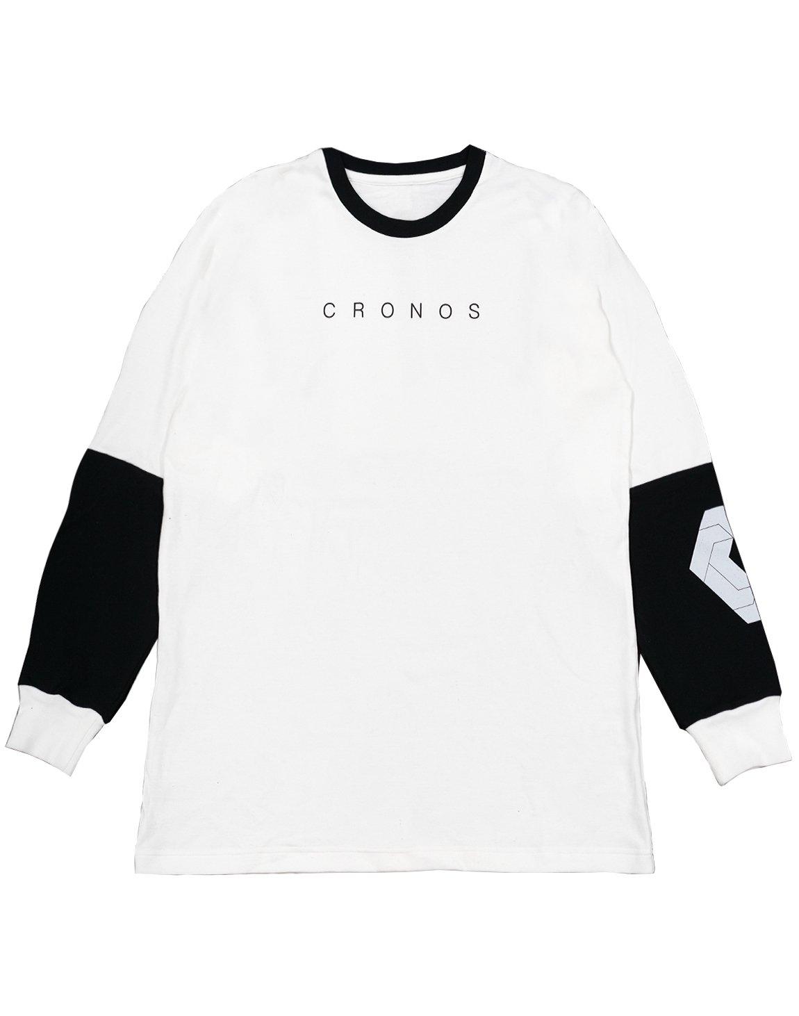 CRONOS NEW ARM LOGO LONG SLEEVE【WHITE】