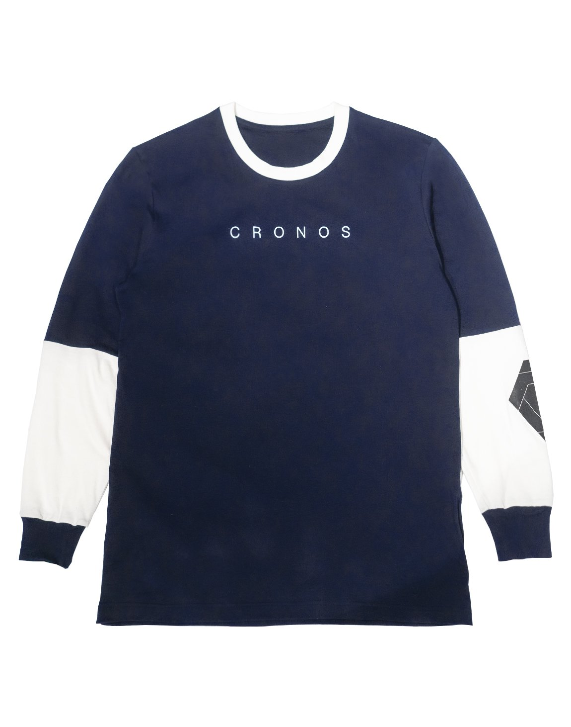 <img class='new_mark_img1' src='https://img.shop-pro.jp/img/new/icons55.gif' style='border:none;display:inline;margin:0px;padding:0px;width:auto;' />CRONOS NEW ARM LOGO LONG SLEEVE【NAVY】