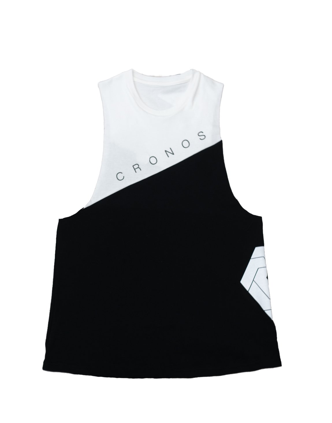 CRONOS NEW Bi-COLOR TANK TOP【BLACK×WHITE】