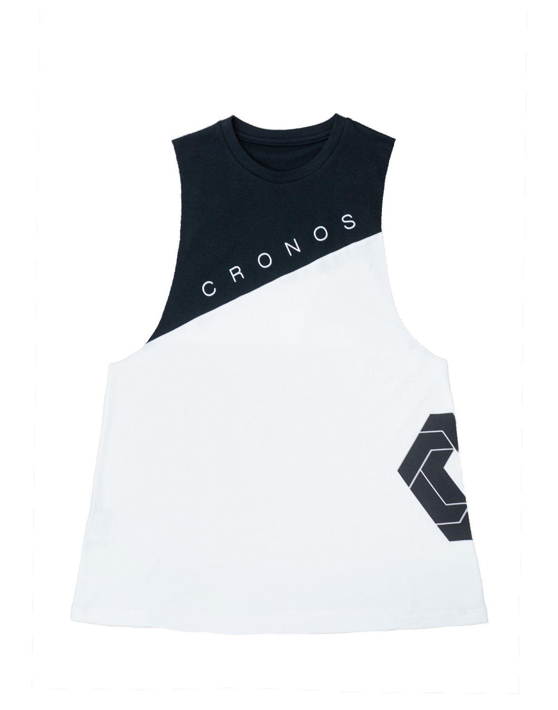 CRONOS NEW Bi-COLOR TANK TOP【WHITE×BLACK】