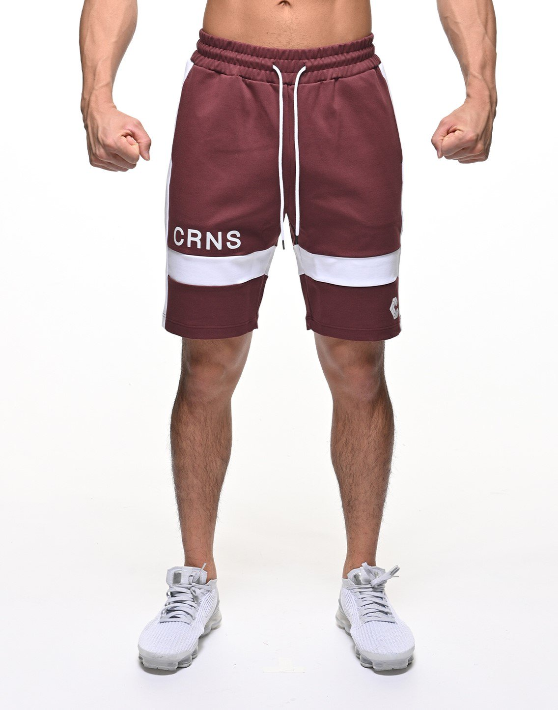 <img class='new_mark_img1' src='https://img.shop-pro.jp/img/new/icons55.gif' style='border:none;display:inline;margin:0px;padding:0px;width:auto;' />CRNS THICK LINE SHORTS【BORDEAUX】