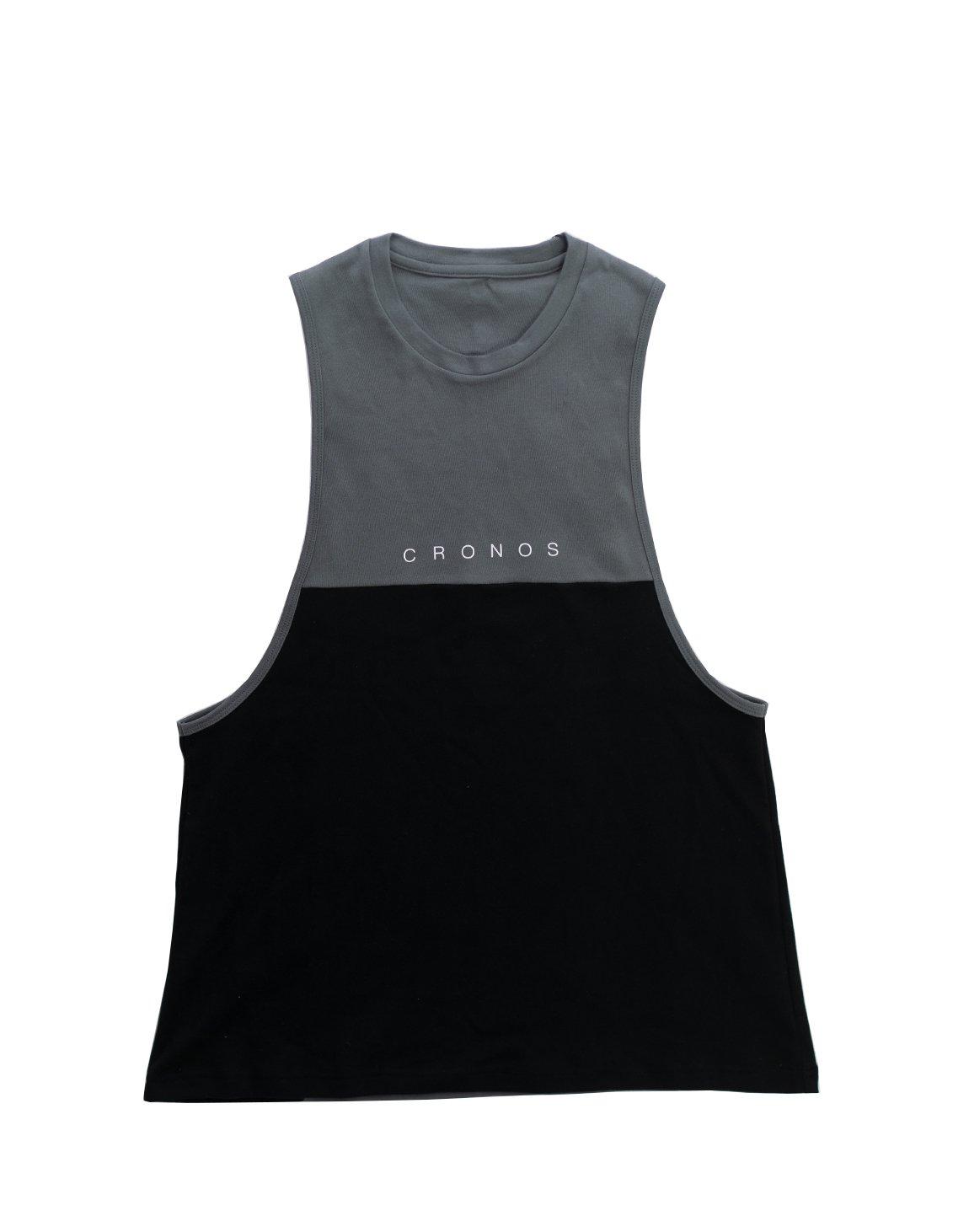 CRONOS TWO BI-COLOR TANKTOP【BLACK×C.GRAY】