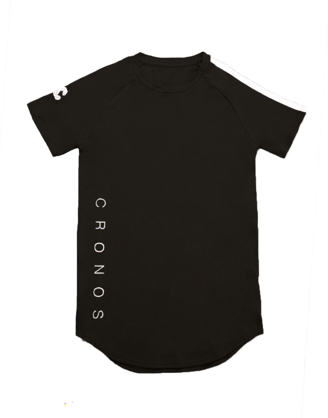 CRONOS SHOULDER TWO LINE T-SHIRTS【BLACK】