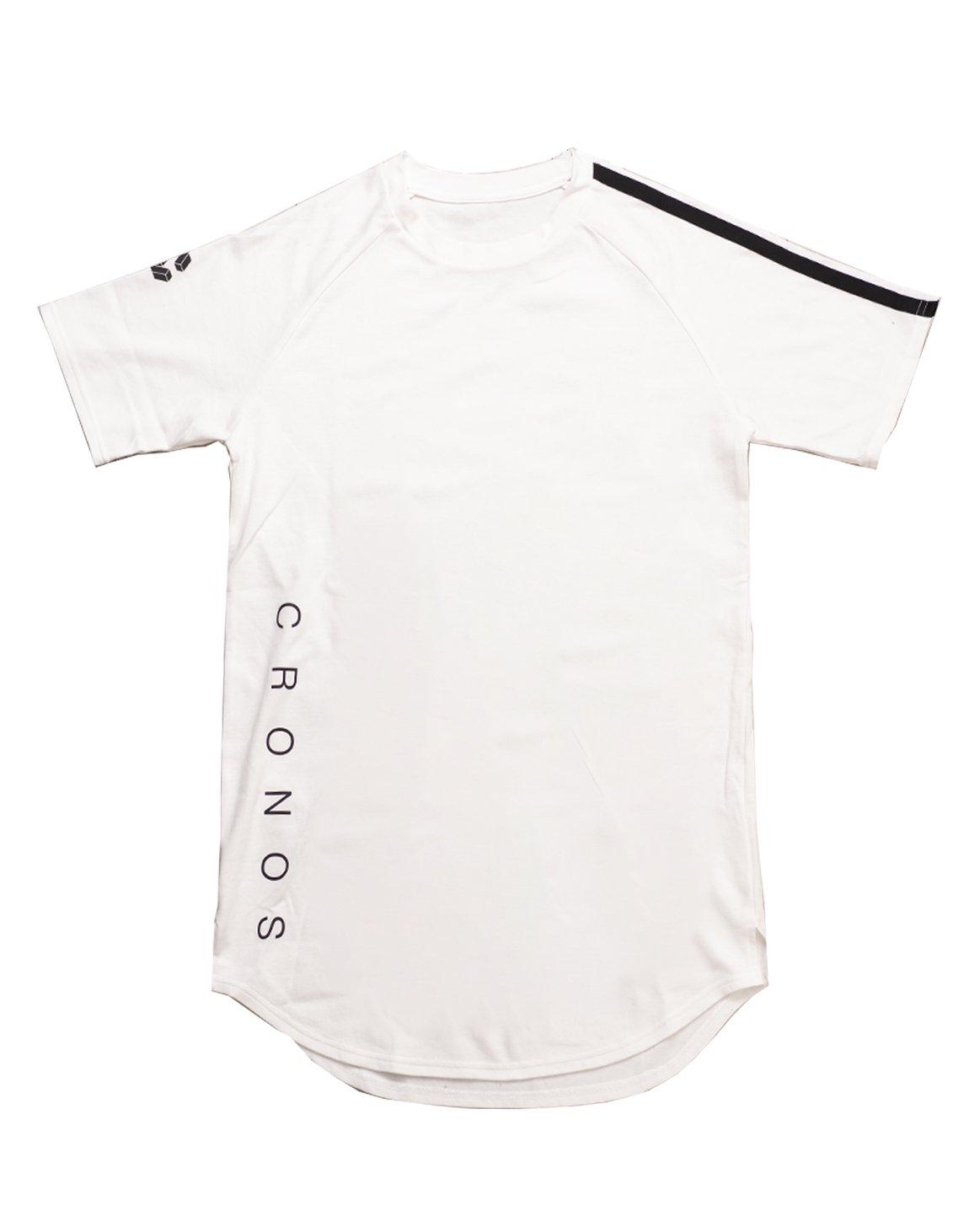 CRONOS SHOULDER TWO LINE T-SHIRTS【WHITE】