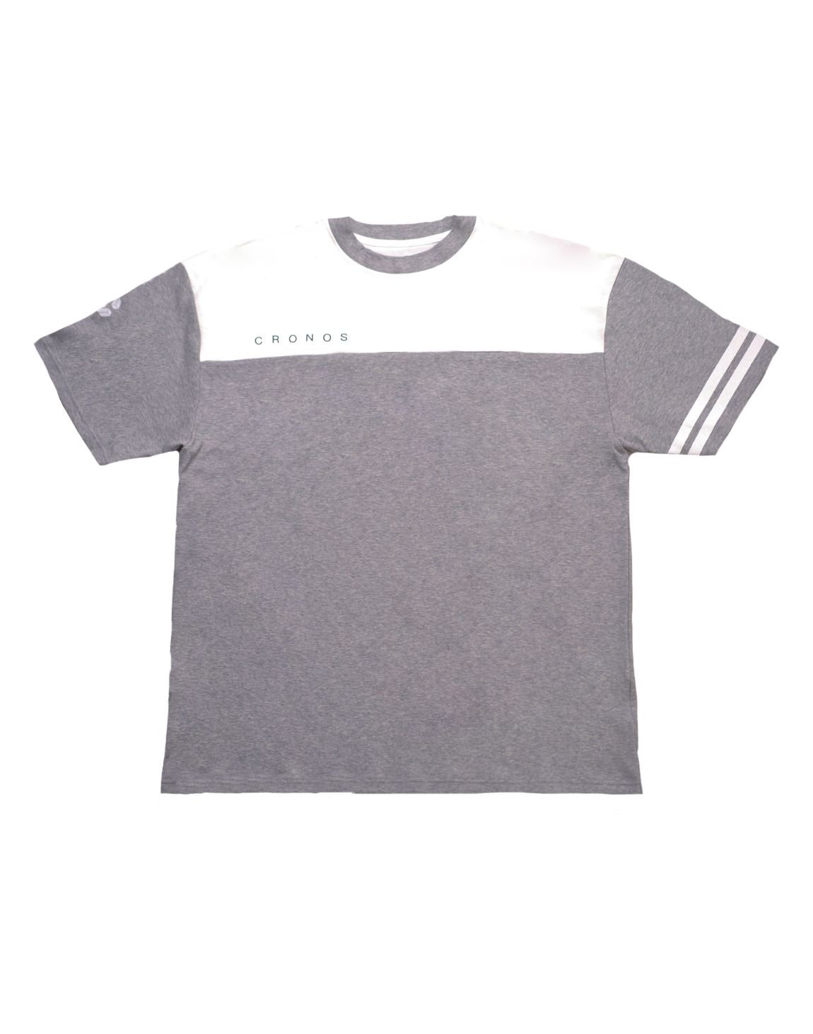 CRONOS Bi-COLOR SLEEVE LINE OVER SIZE T-SHIRTS【T.GRAY】