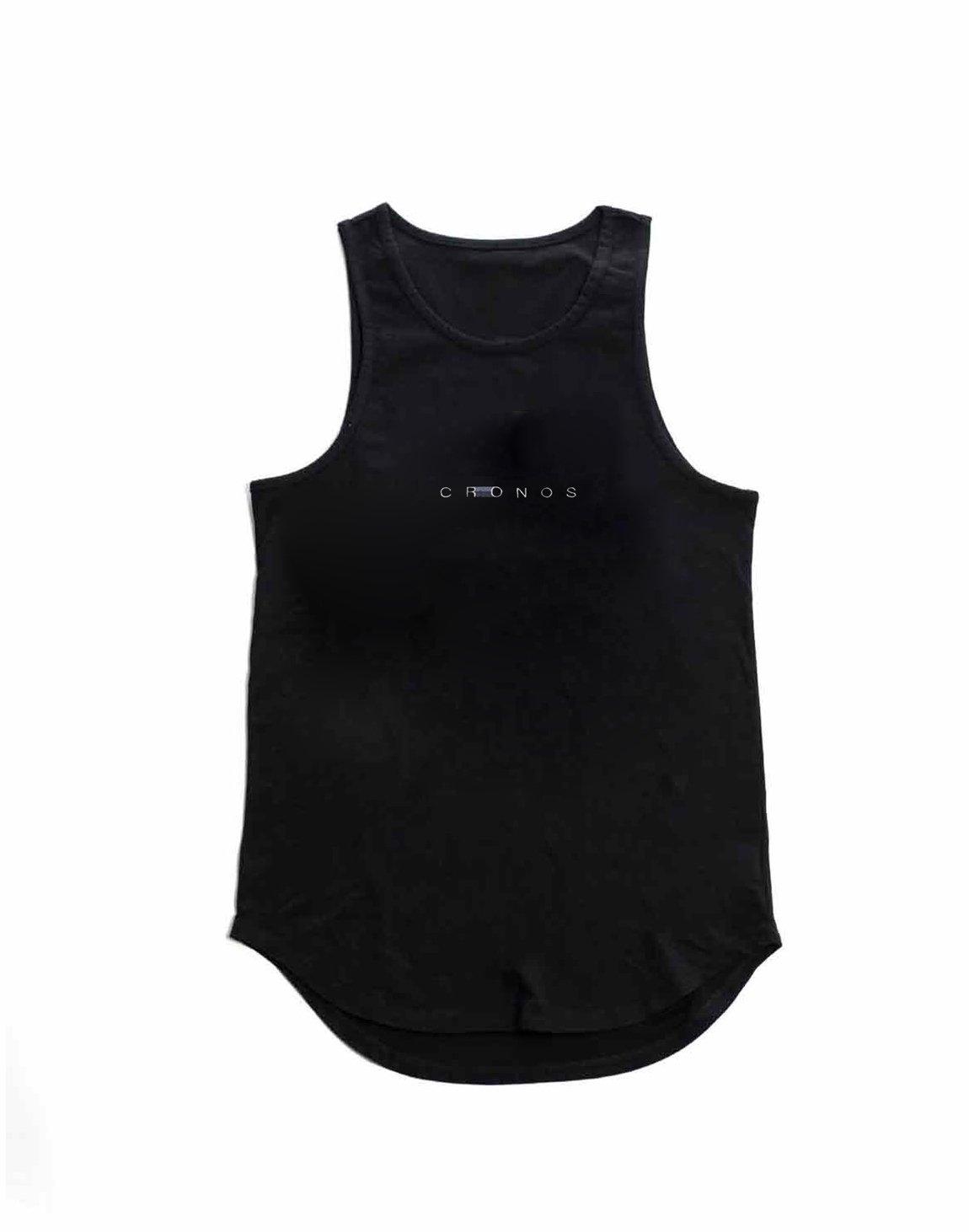 CRONOS STITCH TANK TOP【BLACK】