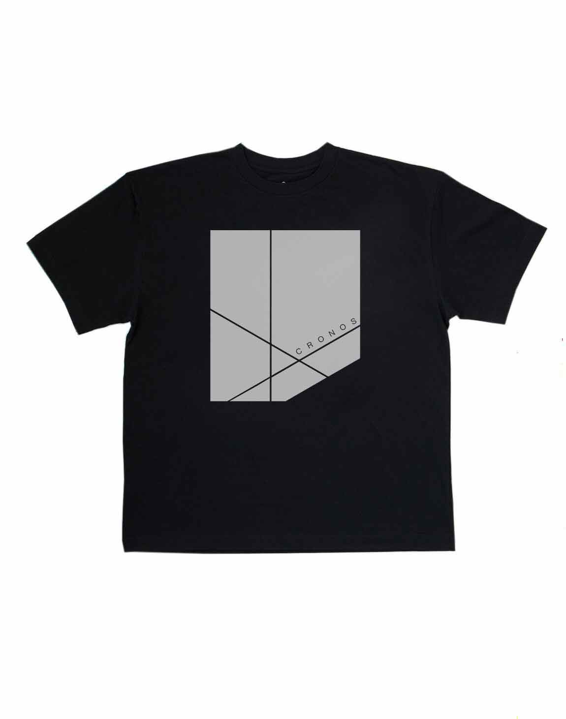 CRONOS NEW BOX LOGO OVER SIZE T-SHIRTS【BLACK】