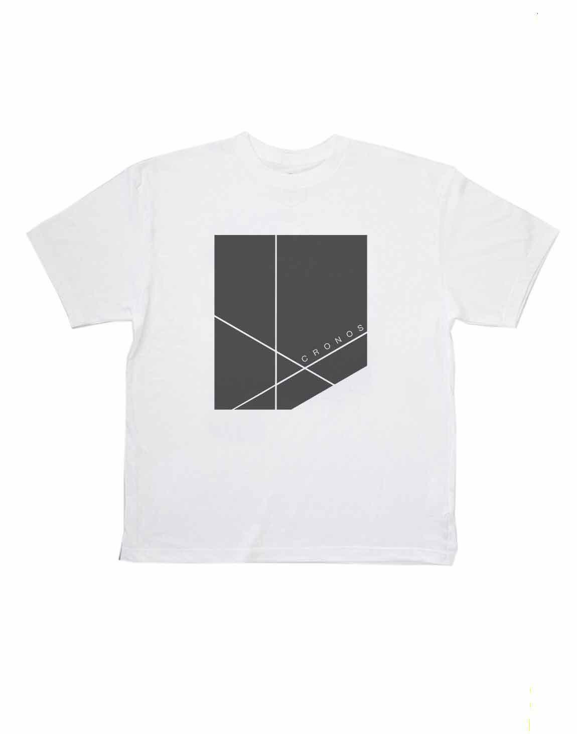 CRONOS NEW BOX LOGO OVER SIZE T-SHIRTS【WHITE】