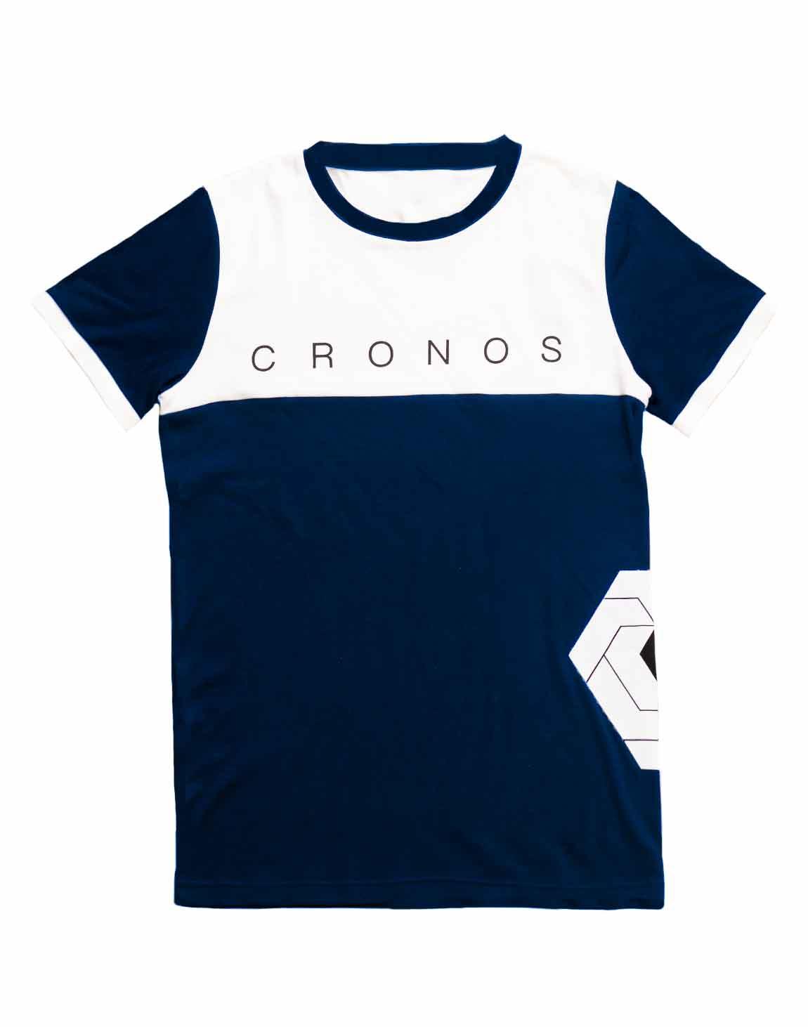 CRONOS Bi-COLOR SIDE LOGO T-SHIRTS【NAVY×WHITE】
