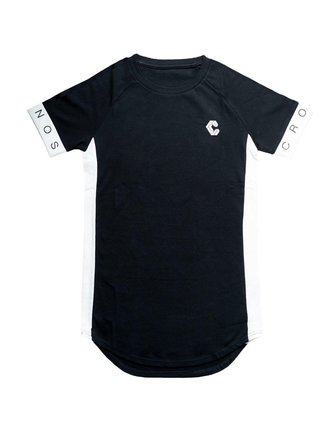 CUFF DESIGN LOGO TIGHT SIZE T-SHIRTS【BLACK】