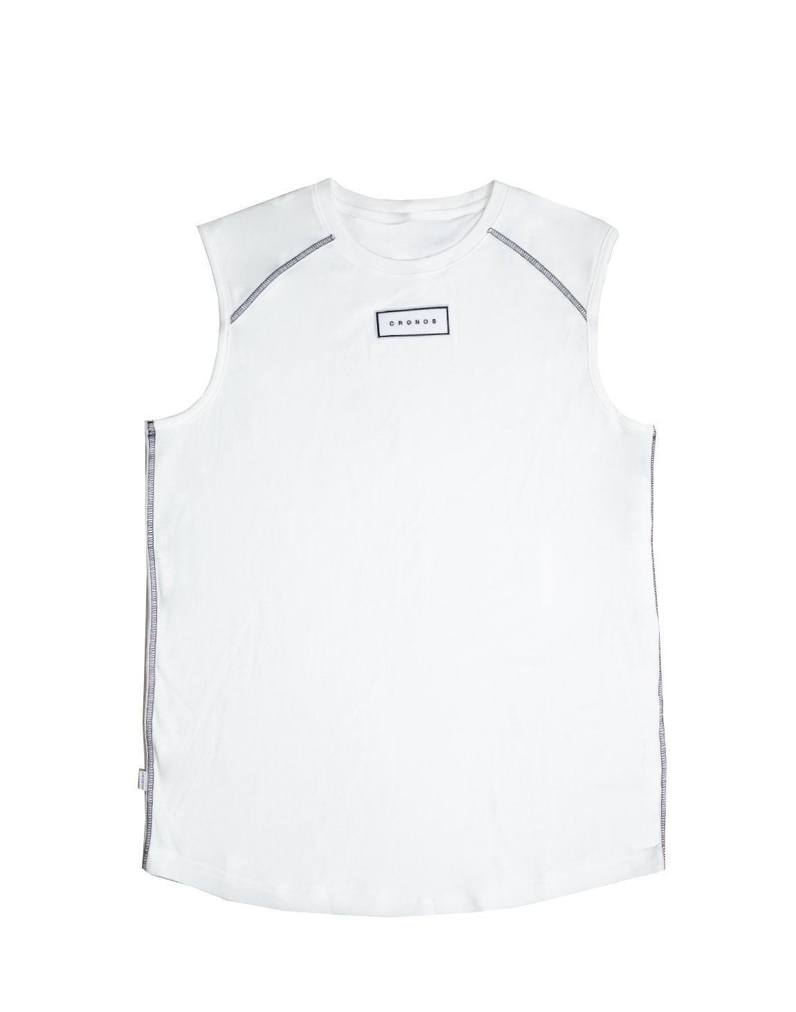 FRONT PATCH LOGO SLEEVELESS【WHITE】